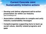 current concrete joint sustainability initiative actions