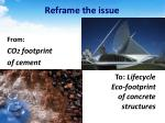 reframe the issue