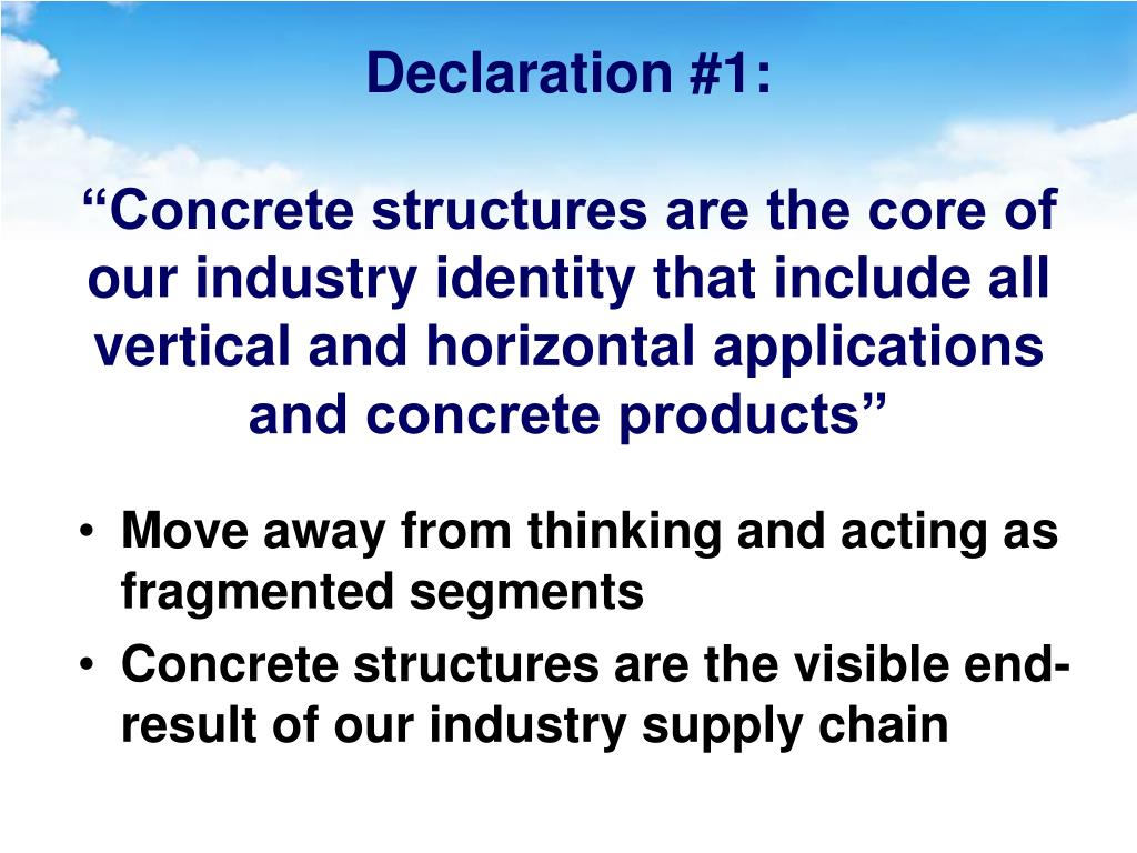 Declaration #1: