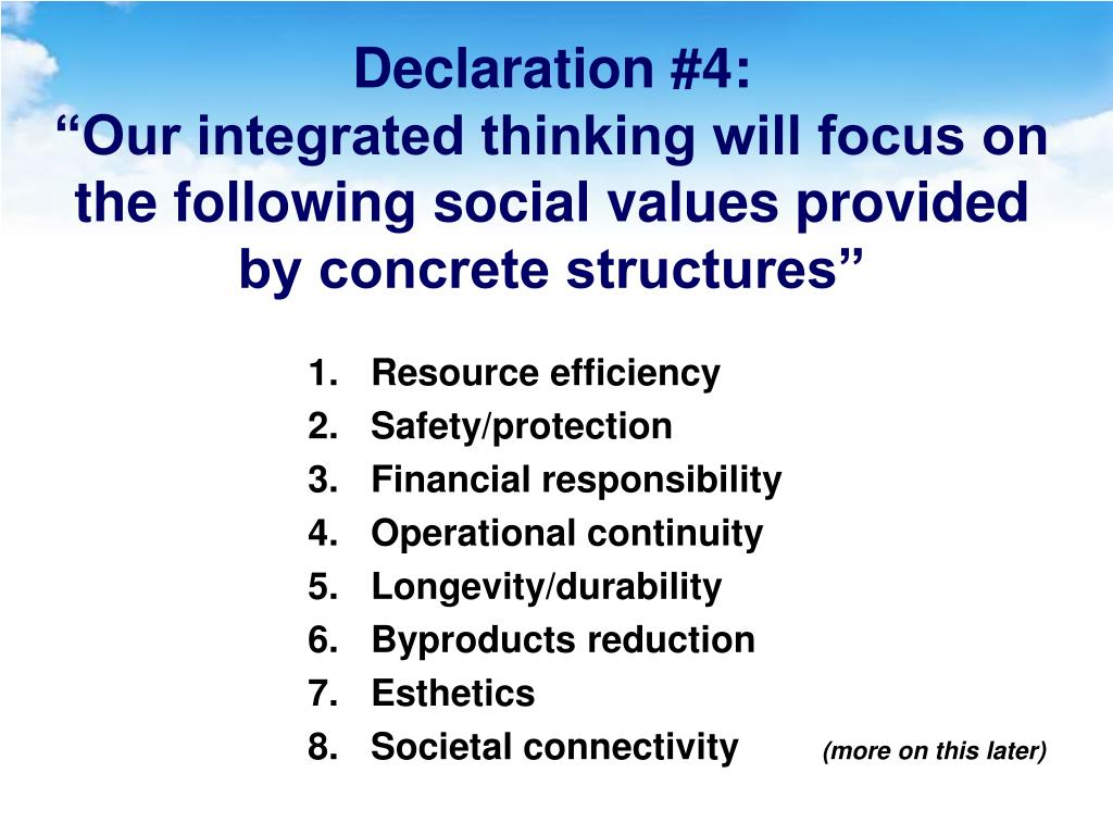 Declaration #4: