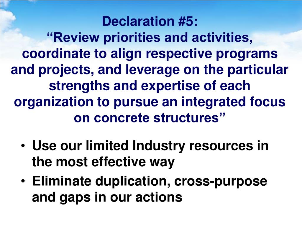 Declaration #5: