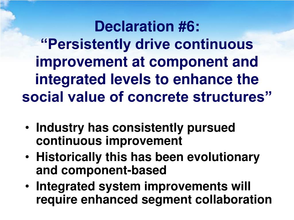 Declaration #6: