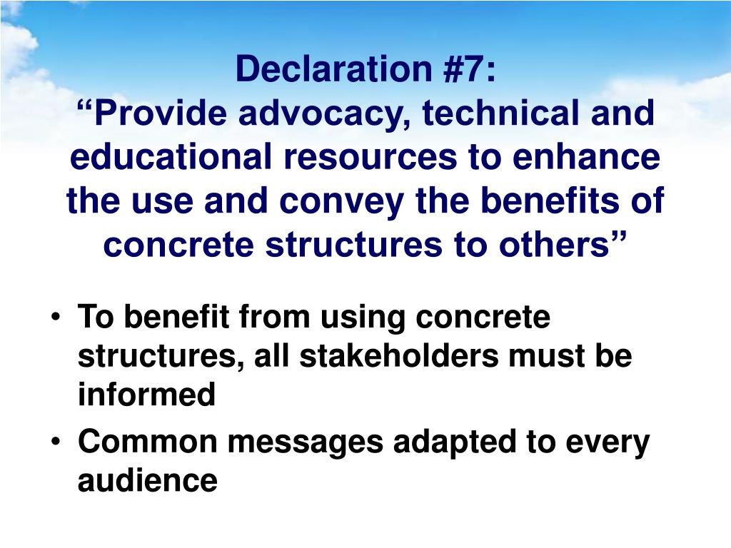 Declaration #7:
