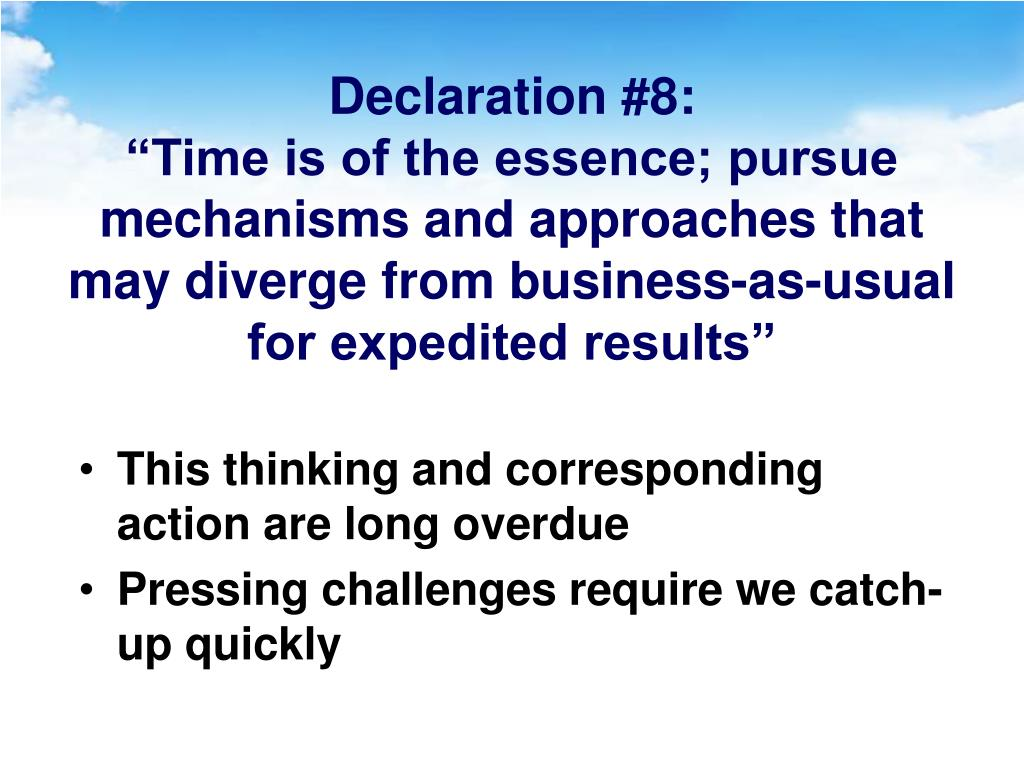 Declaration #8:
