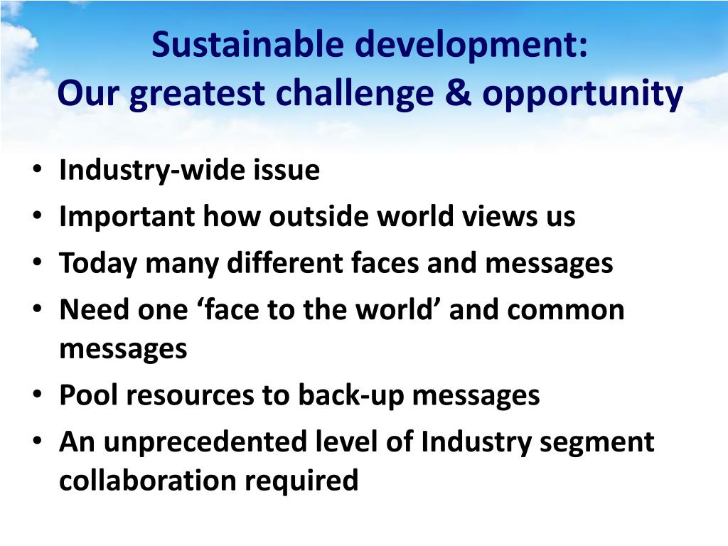Sustainable development: