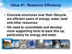 value 1 resource efficiency