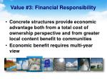 value 3 financial responsibility