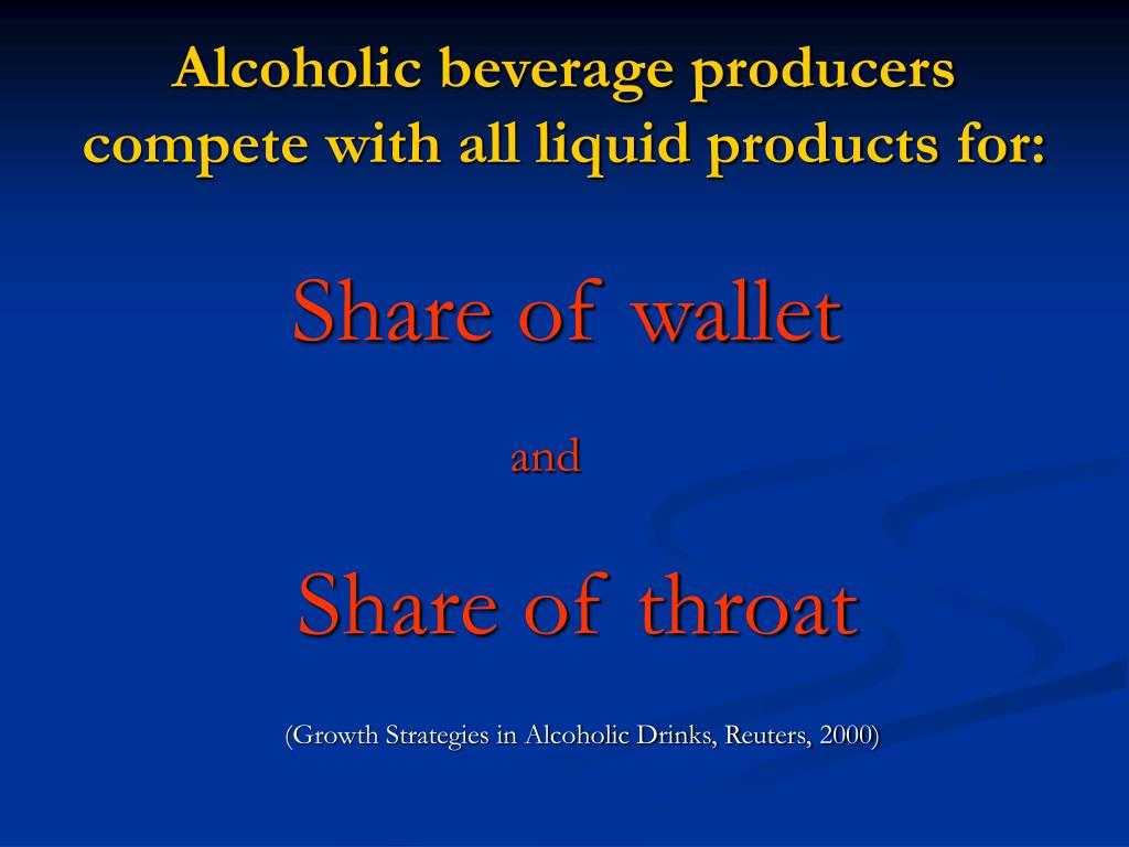 Alcoholic beverage producers compete with all liquid products for: