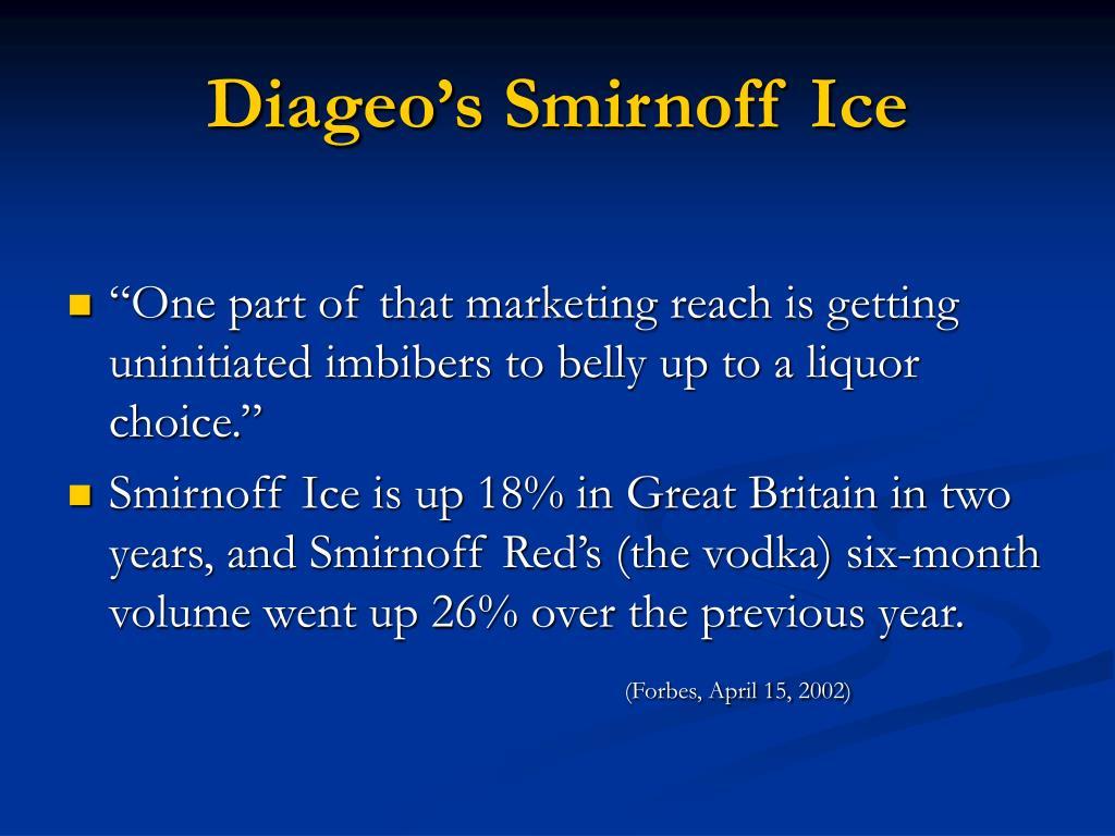 Diageo's Smirnoff Ice