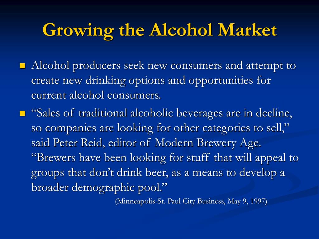 Growing the Alcohol Market
