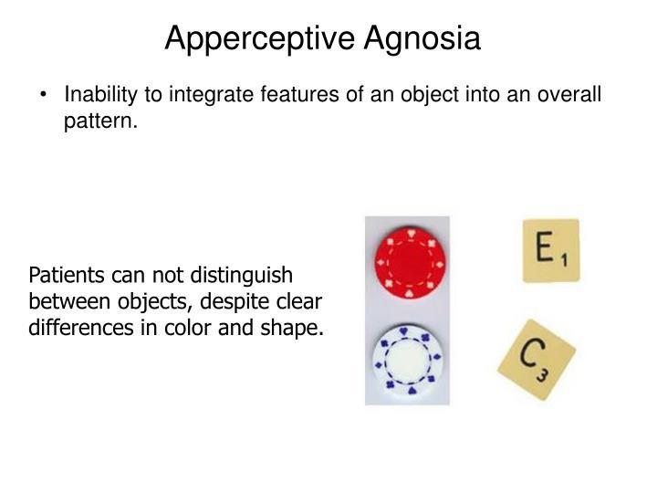 Apperceptive Agnosia