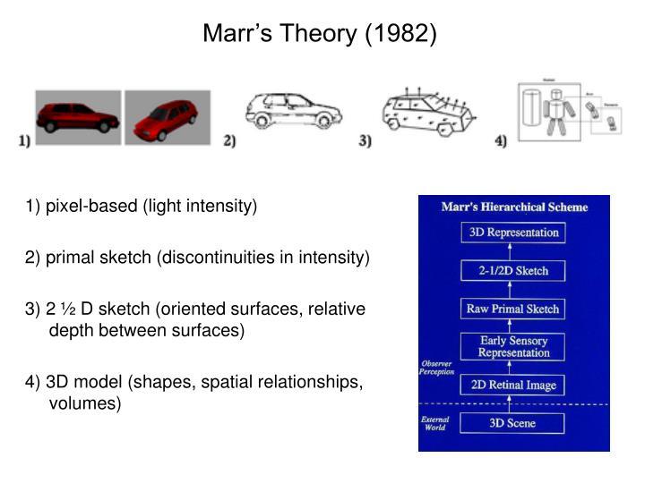 Marr's Theory (1982)