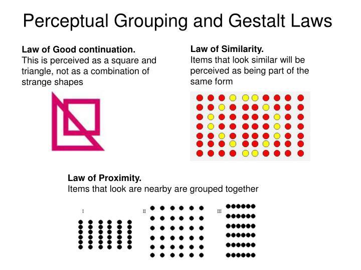Perceptual Grouping and Gestalt Laws