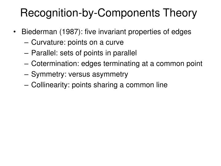 Recognition-by-Components Theory