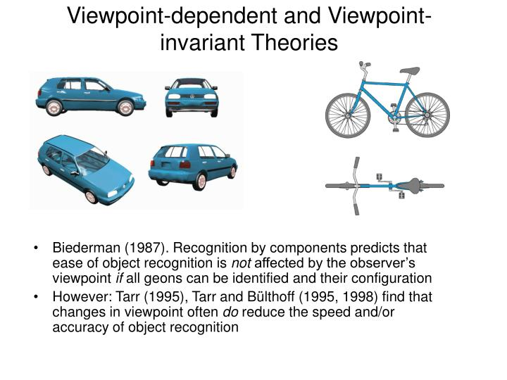 Viewpoint-dependent and Viewpoint-invariant Theories