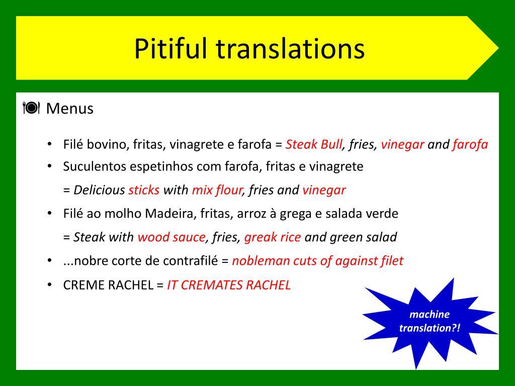 Pitiful translations