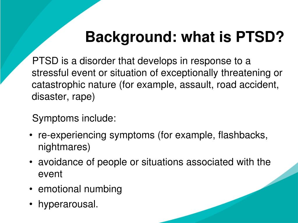 Background: what is PTSD?