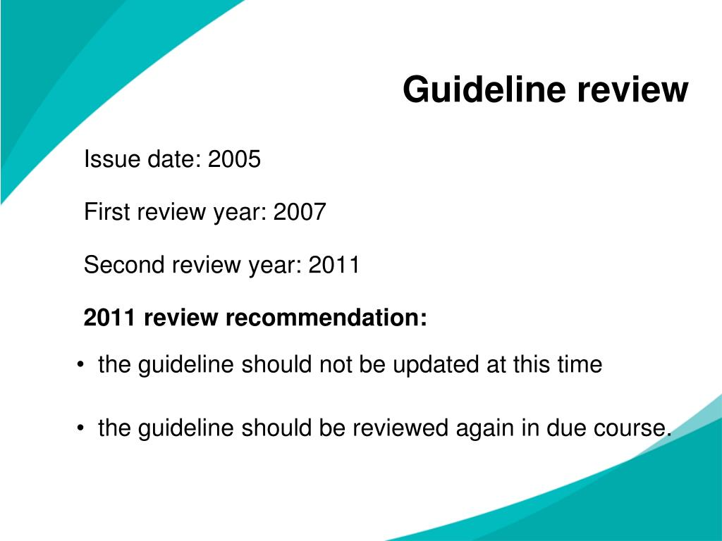 Guideline review