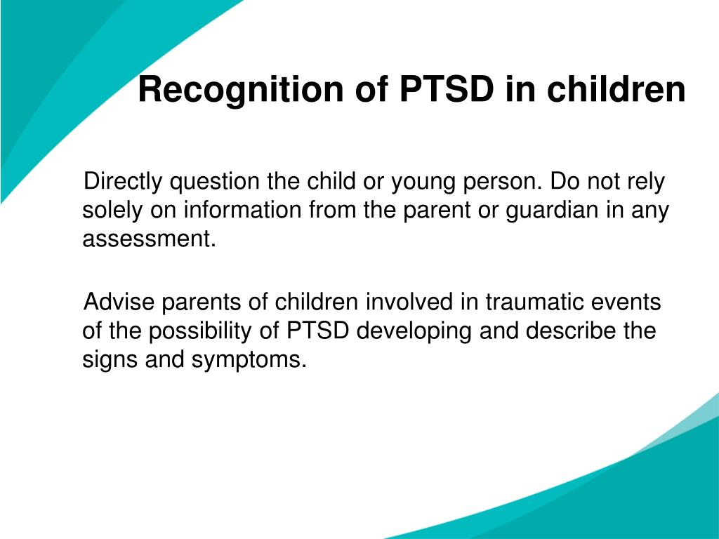 Recognition of PTSD in children