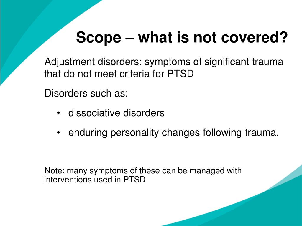 Scope – what is not covered?