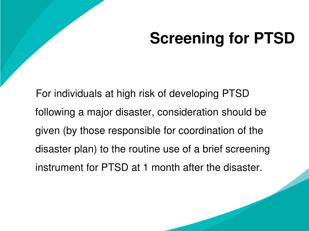 Screening for PTSD