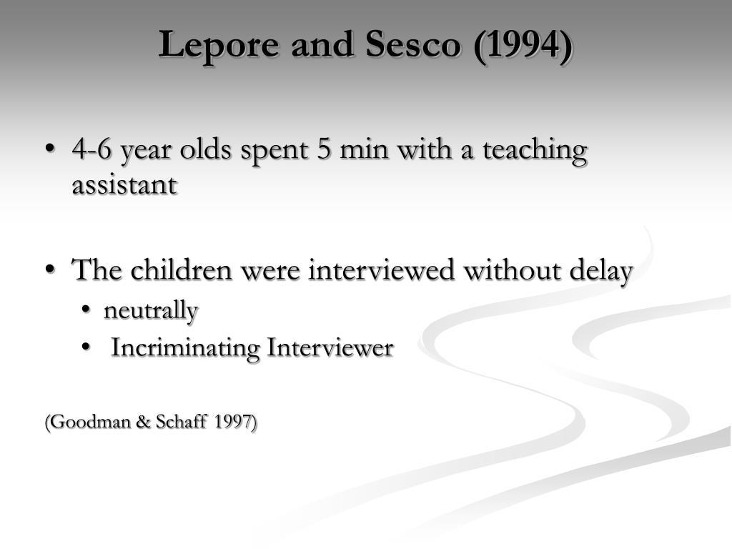 Lepore and Sesco (1994)