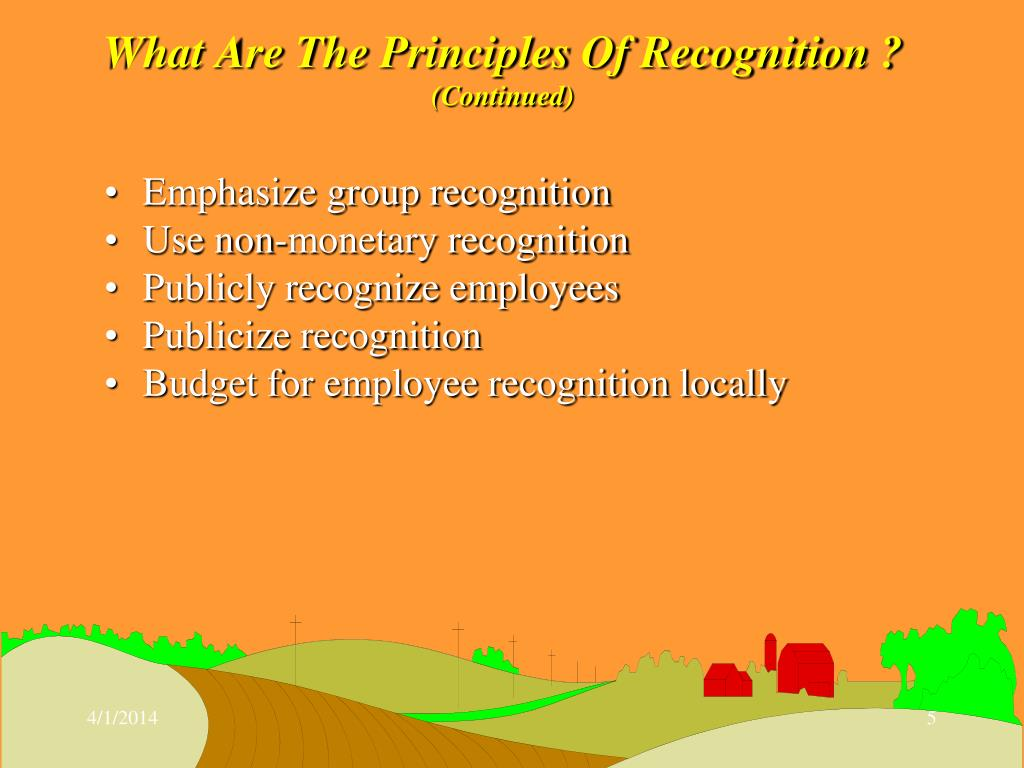 What Are The Principles Of Recognition ?