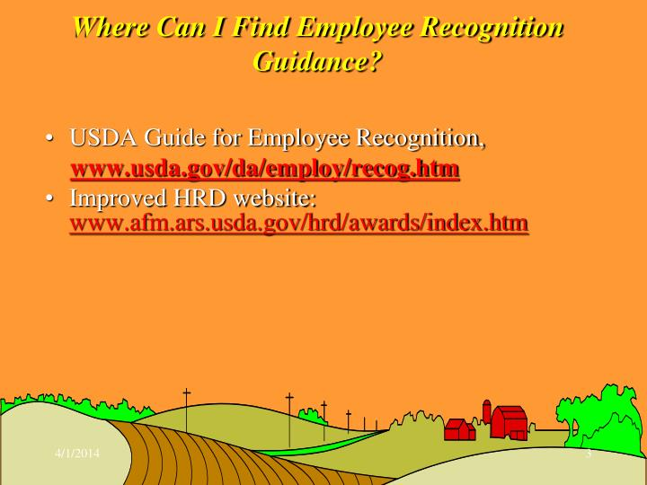 Where can i find employee recognition guidance