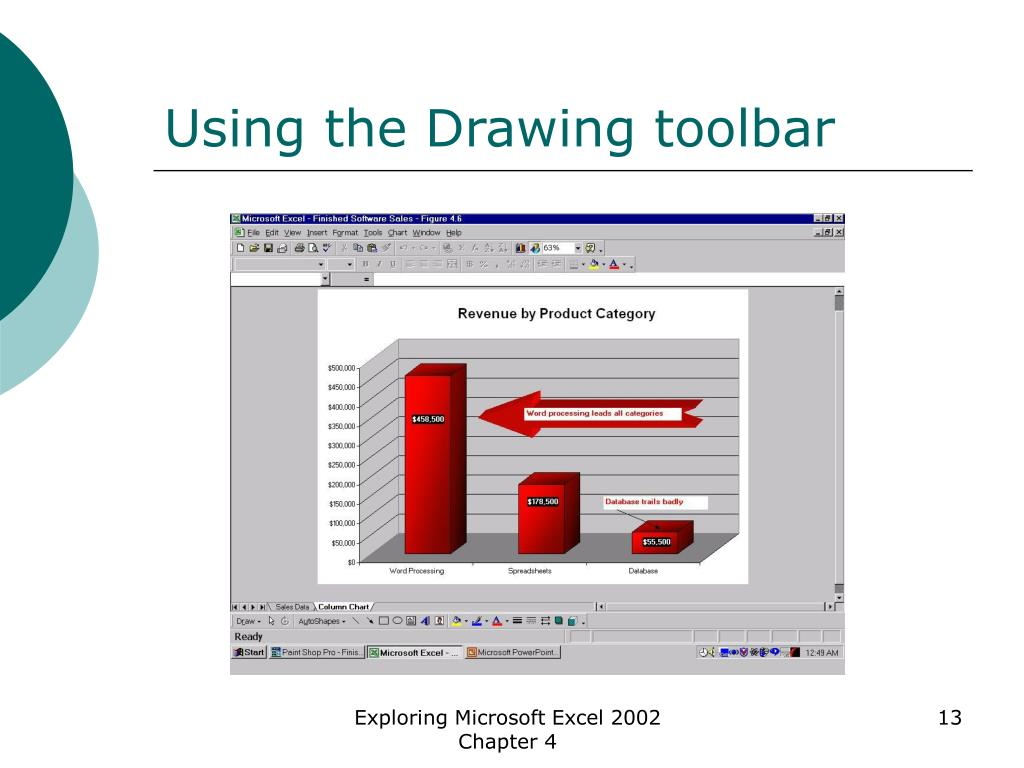 Using the Drawing toolbar