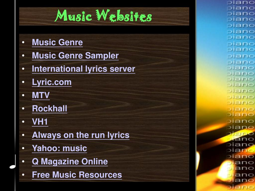 Music Websites