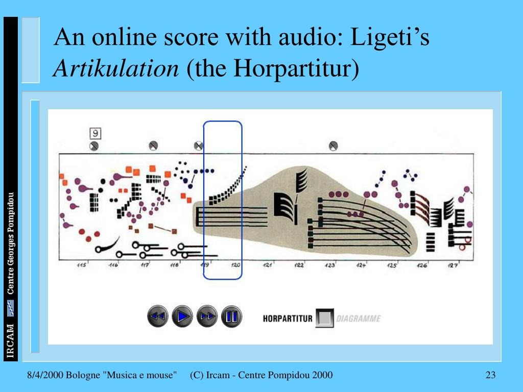 An online score with audio: Ligeti's