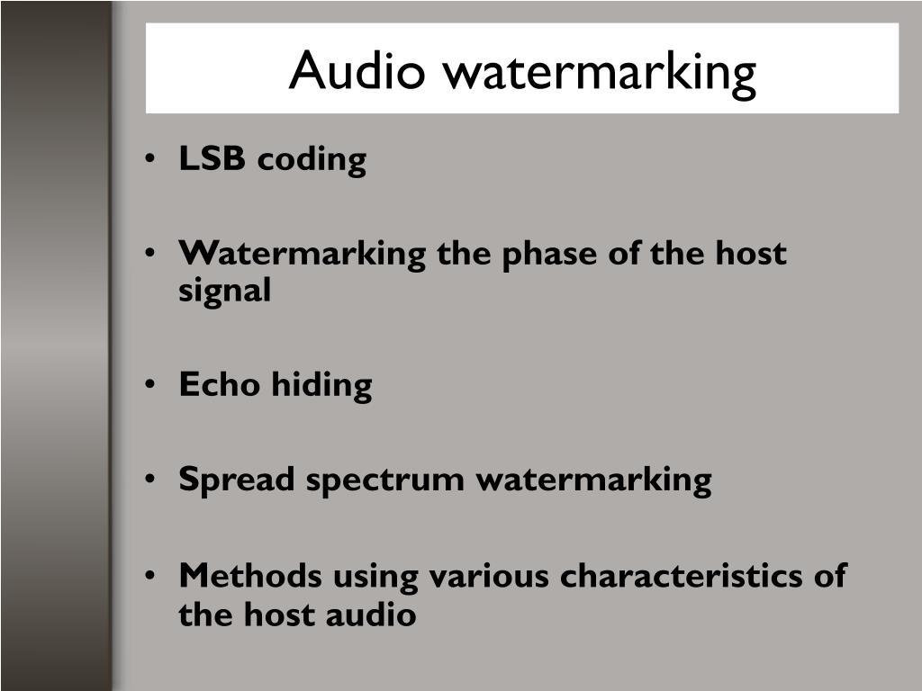 Audio watermarking