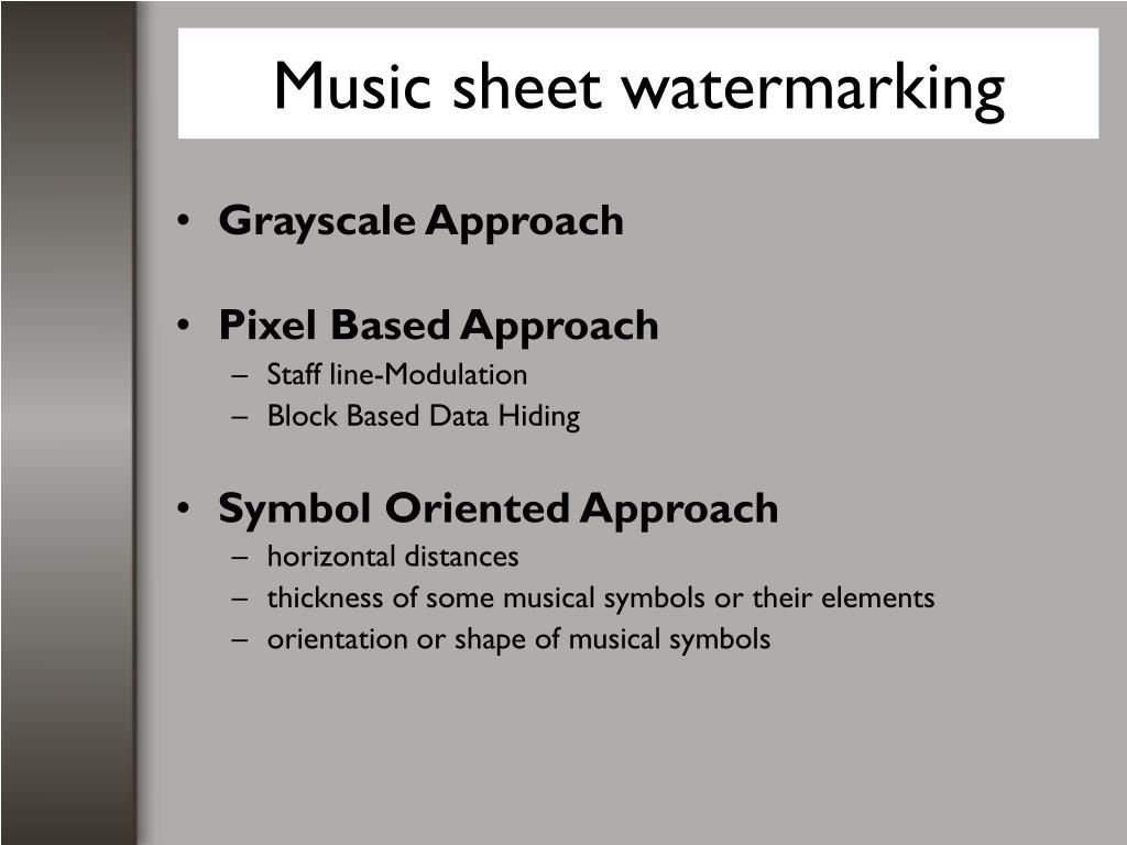 Music sheet watermarking