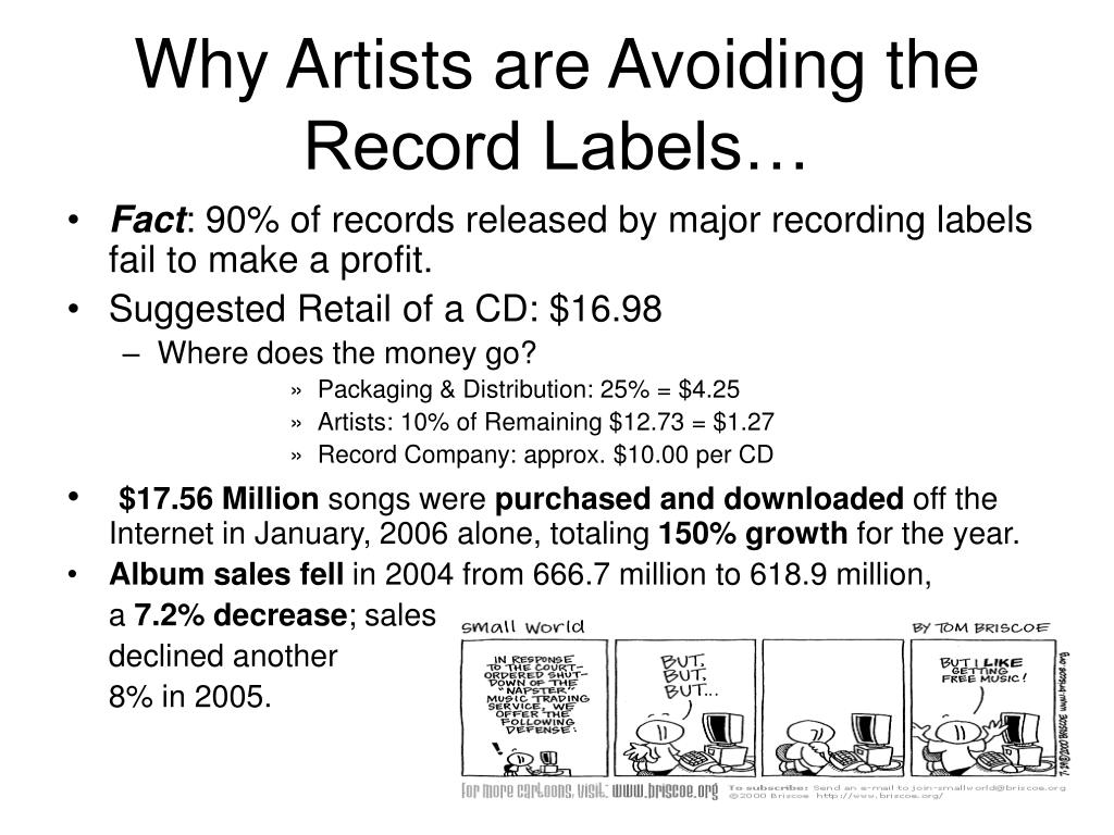 Why Artists are Avoiding the Record Labels…