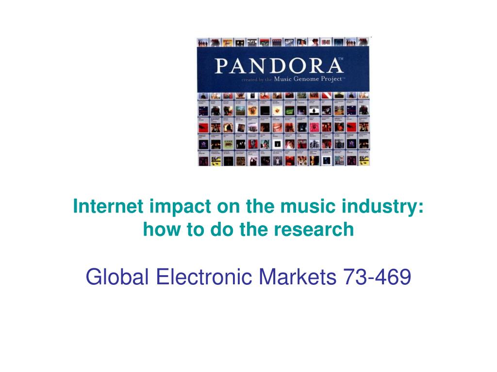 Internet impact on the music industry: