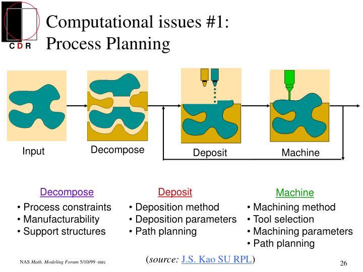 Computational issues #1: