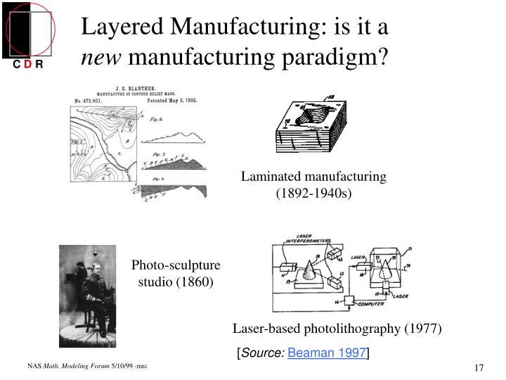 Layered Manufacturing: is it a