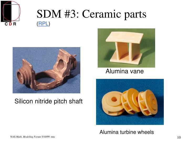 Alumina vane