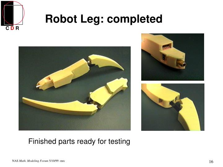 Robot Leg: completed