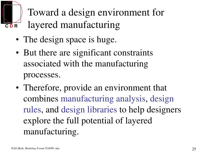 Toward a design environment for layered manufacturing