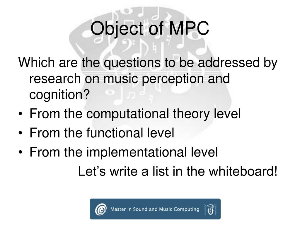 Object of MPC