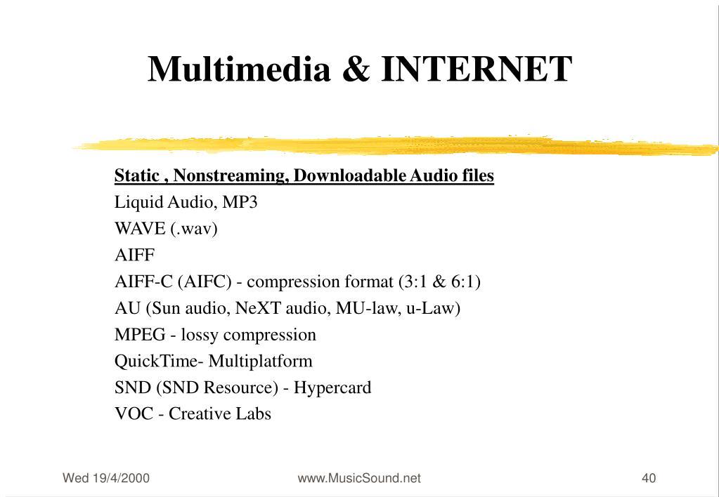 Multimedia & INTERNET
