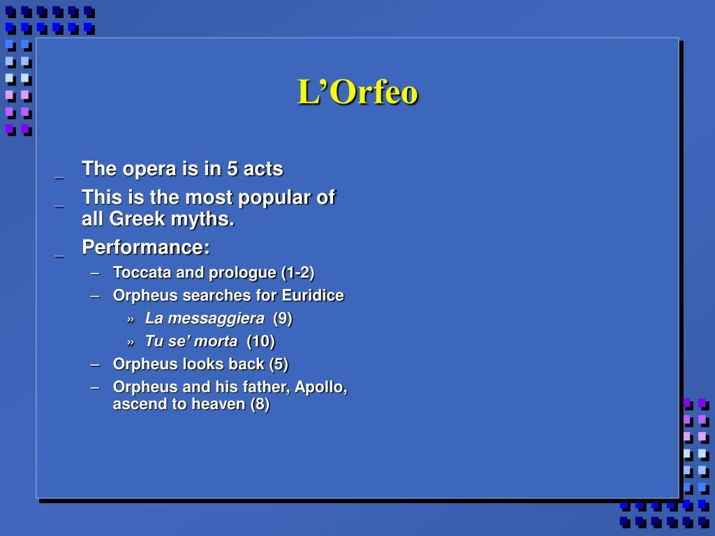 L'Orfeo