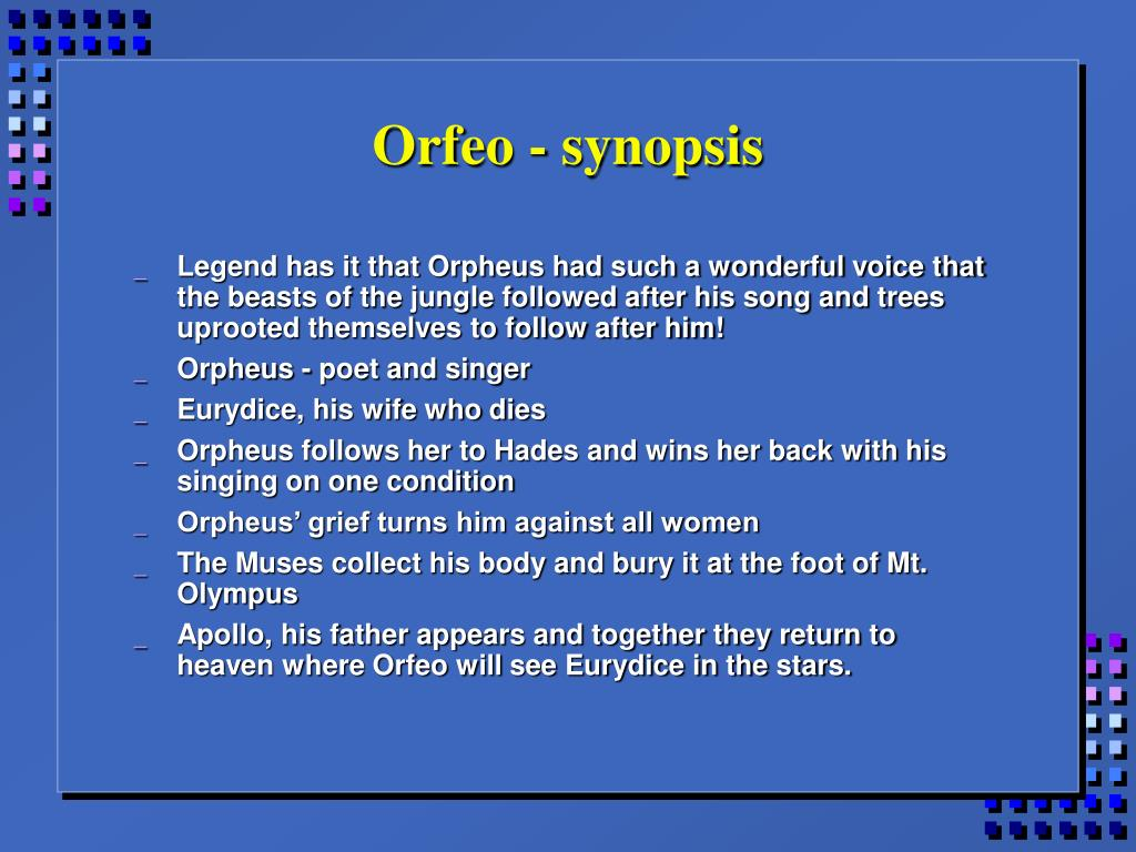 Orfeo - synopsis