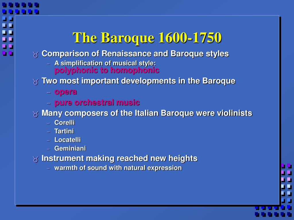The Baroque 1600-1750
