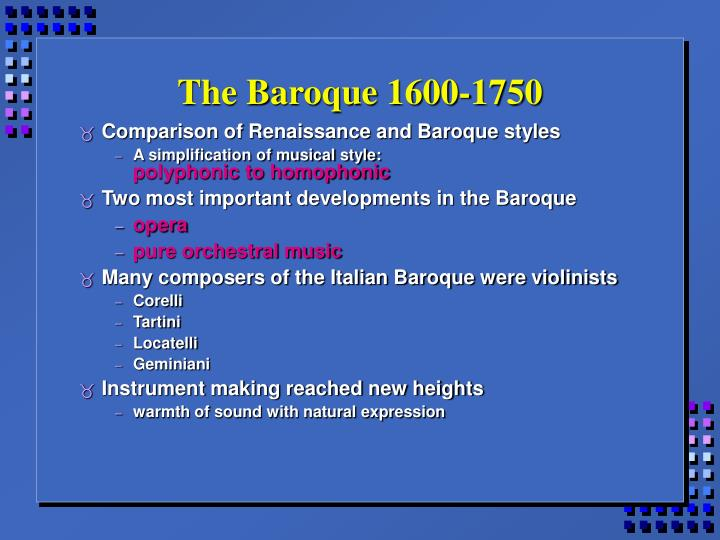 The baroque 1600 1750