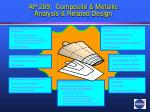 ap 209 composite metallic analysis related design