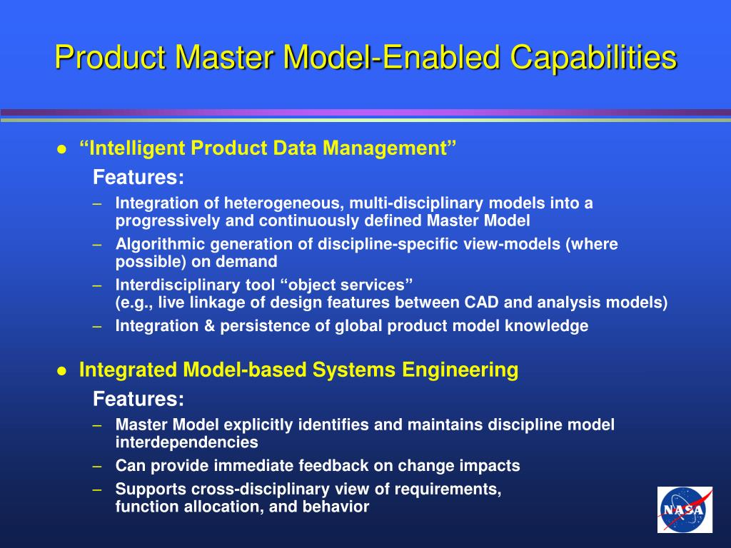Product Master Model-Enabled Capabilities