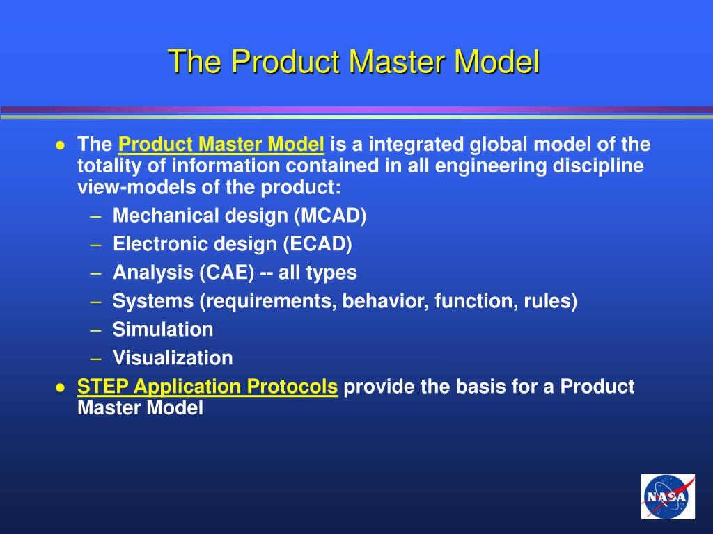 The Product Master Model