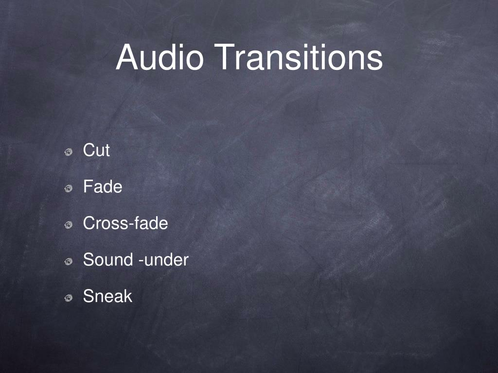 Audio Transitions